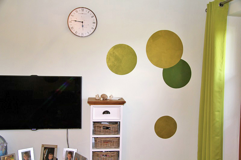 Maler maicher fassaden wand innenraum anstrich in - Wandgestaltung kreise ...